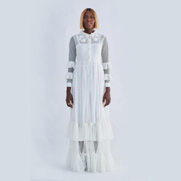 LILO TULLE SHIRT DRESS